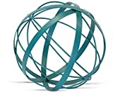 Metal Ball Sphere Teal/Aqua (Large, Decorative, 9 Inches) | by Urban Legacy