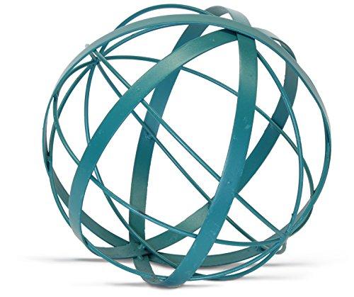 Urban Legacy Metal Ball Sphere Teal/Aqua (Large, Decorative, 9 Inches)