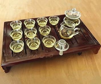 Sado Glass Gaiwan Gongfu Tea Set / Chinese Tea Cup(set of 13/glass & Amazon.com | Sado Glass Gaiwan Gongfu Tea Set / Chinese Tea Cup(set ...