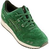ASICS GEL Lyte III Retro Running Shoe, Green/Green, 9.5 B(M) US