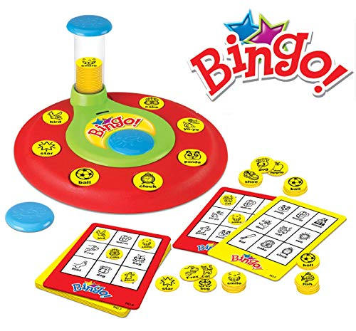 PinSpace Bingo Game Board Games, Words Number Learning Reading Matching Spelling Memory Math Games Preschool Kindergarten Pre-Readers and Early Readers Educational Toys for Kids Age 4 Year and Up for $<!--$14.99-->