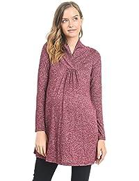 Women's Sweater Knit Maternity Long Sleeve Tunic Top