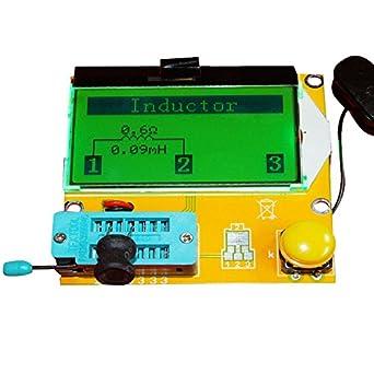 KKmoon Contraluz del LCD multifuncional Transistor Tester diodo triodo capacitancia medidor ESR MOS PNP NPN LCR: Amazon.es: Amazon.es