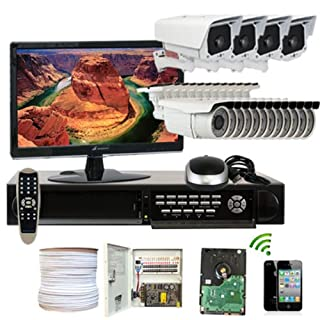 GW Security Inc. 16CHE3 16-Channel Real Time DVR CCD 700 TVL Varifocal Lens Camera Surveillance System (Black and White) (B00HGAWE4M)   Amazon price tracker / tracking, Amazon price history charts, Amazon price watches, Amazon price drop alerts