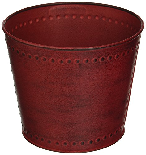 red plant pot - 3