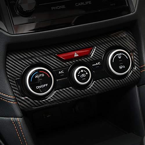 Kadore Black ABS Carbon Fiber Color Interior Console Dashboard Panel Air Condition Cover Trim for 2018 2019 Subaru Crosstrek XV SUV and Hybrid