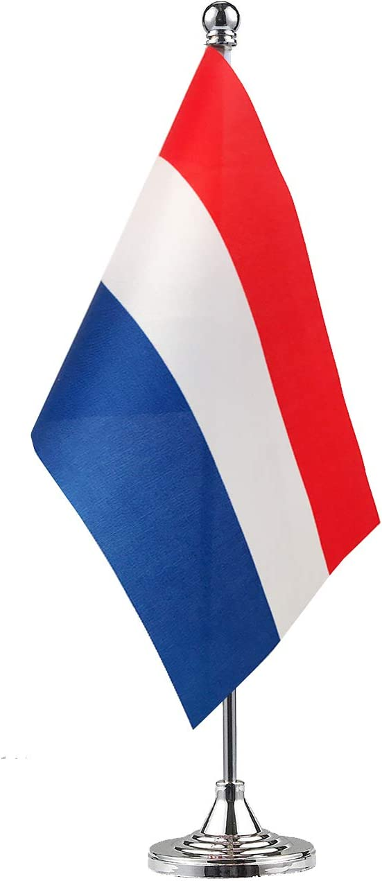 GentleGirl.USA Netherlands Flag Dutch Flag Table Flag,Desk Flag,Office Flag,International World Country Flags Banners,Festival Events Celebration,Office Decoration,Desk,Home Decoration