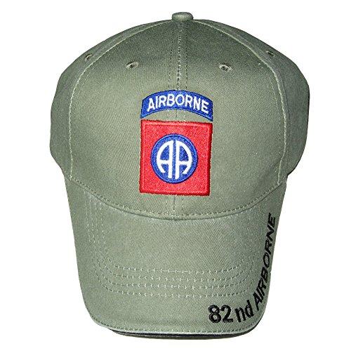 U.S. Army 82nd Airborne Baseball Cap. OD Green, Adjustable