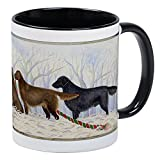 CafePress - Winter Flat-Coated Retriever Mug - Unique Coffee Mug, Coffee Cup