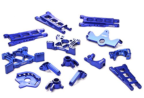 Alloy Rear Chassis Plate - Integy RC Model Hop-ups T8595BLUE Billet Machined T2 Conversion Kit 1/10 Stampede 4X4 & Slash 4X4 (Non-LCG)