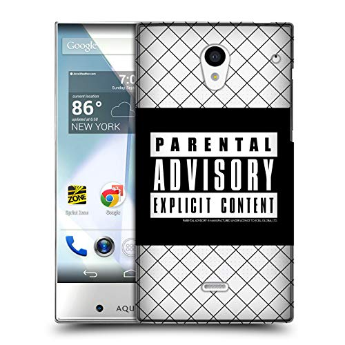 Official Parental Advisory Net Punk Rock Hard Back Case for Sharp Aquos Crystal 305SH