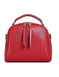 Top Shop Womens Leather Shell Weave Shoulder Handbags Casual Totes Messenger Bag Hobos Satchels