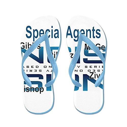 Cafepress Speciella Agenter Ncis - Flip Flops, Roliga Rem Sandaler, Strand Sandaler Caribbean Blue