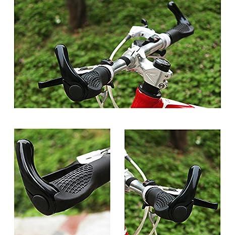 Symboat 1 Pairs Cyclisme Poign/ée Prises Guidon Housse Caoutchouc Anti-d/érapage Verrouillable pour V/élo V/élo de Montagne