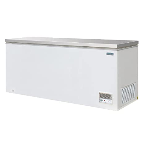 Polar CM532 congelador en el pecho con tapa de acero inoxidable ...