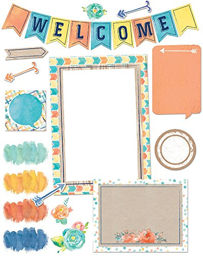 Eureka Confetti Splash Welcome Banner Back to School Bulletin Board Set and Classroom Decorations for Teachers, 34 -
