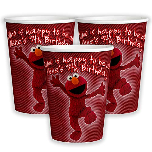 - 12 Personalized Elmo 9 oz Paper Cups