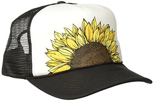 O'Neill Junior's Beach Day Screen Print Trucker Hat, Black White/Blw, One Size