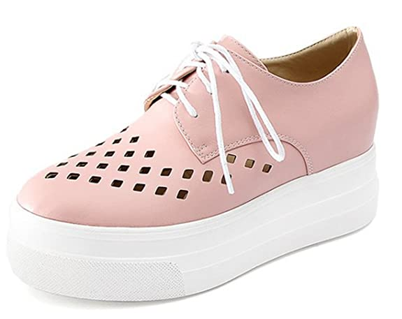 SHOWHOW Damen Luftig Mesh Sommer Schuhe Freizeitschuhe Sneakers Weiß 40 EU rxYXhcS