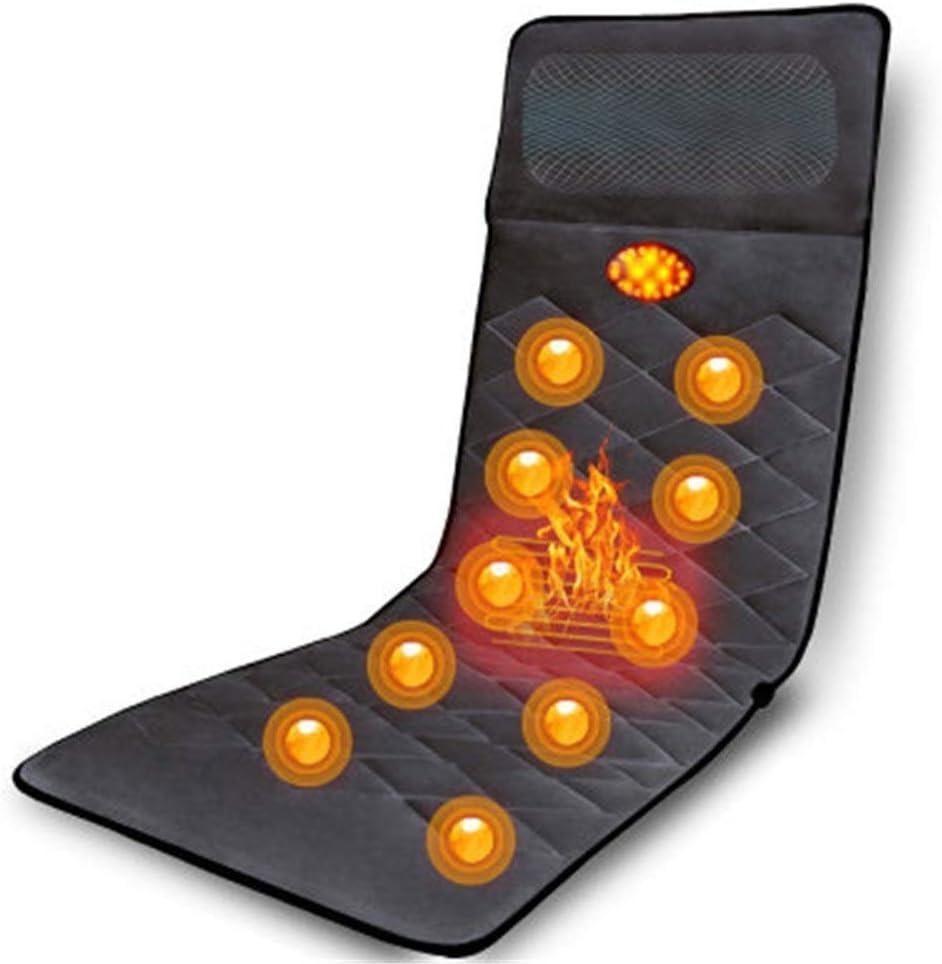 多機能家庭用電気マッサージマットレスカーペットに寄りかかるための全身マッサージクッションフルボディ加熱マッサージマットレスマット (色 : Picture, サイズ : 178x60x7cm)