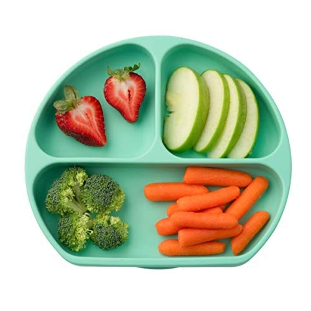Juliaire, Suction Plates for Babies, and Toddlers | Food Grade Silicone Suction Plates - 100%,BPA Free | Microwave Safe Plate (Mint)…