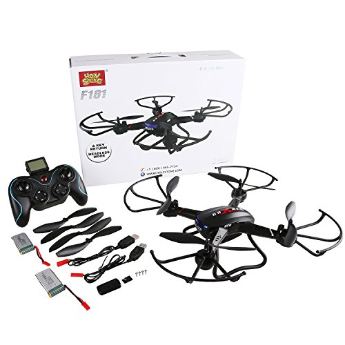 Holy-Stone-F181C-RC-Quadcopter-Drone-with-HD-Camera-RTF-4-Channel-24GHz-6-Gyro-with-Altitude-Hold-FunctionHeadless-Mode-and-One-Key-Return-Home-Color-Black