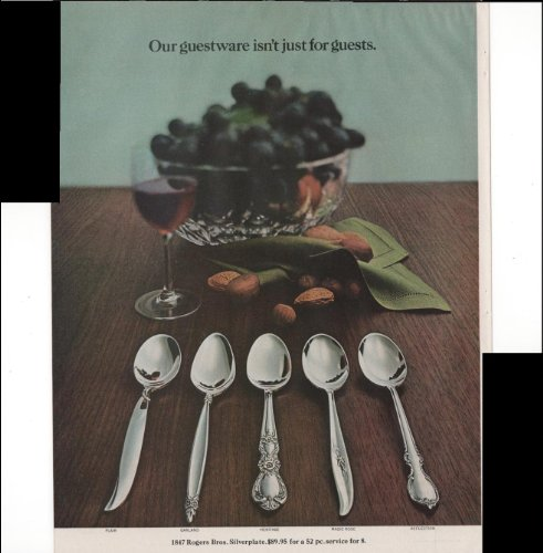 1847 Rogers Bros Stainless Flatware 2 Page 1966 Vintage Antique Advertisement