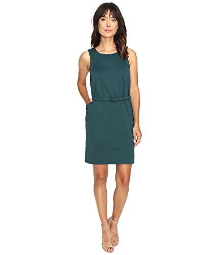 Christin Michaels Women's Marianna Sleeveless Ponte Dress with Belt