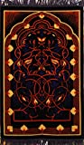Premium Islamic Prayer Rug/Janamaz Sajjadah/Namaz Seccade by GOLD CASE - Made in TURKEY, Orange