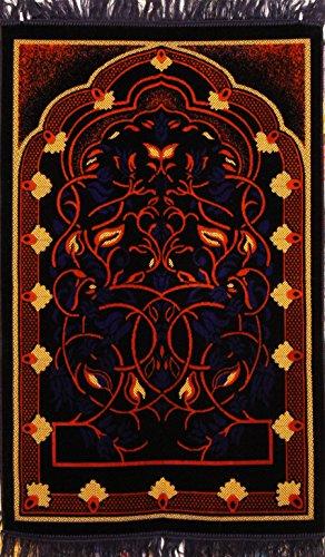Premium Islamic Prayer Rug/Janamaz Sajjadah/Namaz Seccade by GOLD CASE - Made in TURKEY, Orange by Gold Case