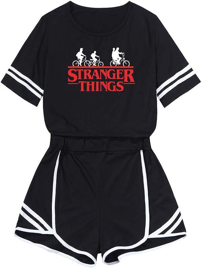 Stranger Things Crop Top y Pantalones Cortos Set Cuello Redondo ...