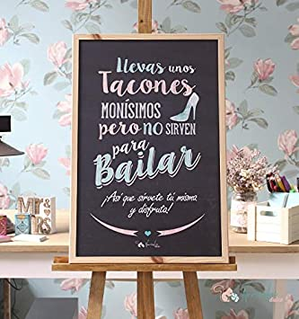 Noviembre Dulce Pizarra de Boda Tacones y Baile: Amazon.es ...