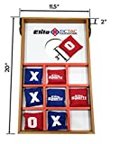 Elite Sportz Junior Bean Bag Toss Game - 2 Games On 1 Board, You Can Play Kids Cornhole Toss or Just Flip-It Over and Play Tic Tac Toe. 2 Active Indoor - Outdoor Games to Keep Kids Busy for Hours