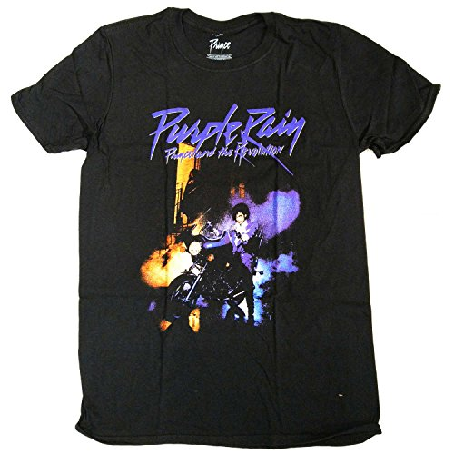 Prince T Shirt - Purple Rain 100% Official Full Colour Album Cover-l ()