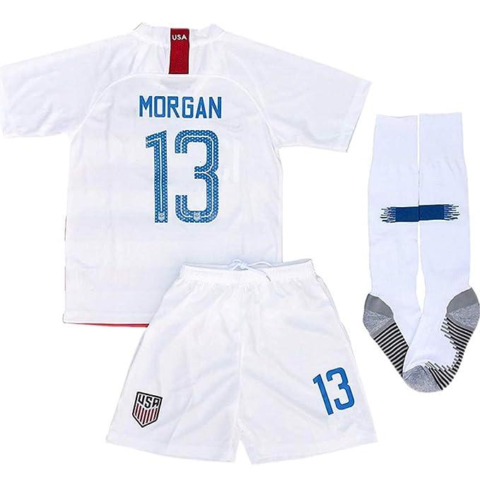 e81395a20 Alex Morgan  13 2018-2019 USA National Home Kids Youth Socce Jersey Matching