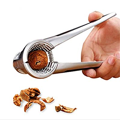 V-nut Pecan Nut Cracker Tool Walnut Cracker with 2- Rubber Grips. Works Great on Walnuts, Pecan Nuts, Hazelnuts, Almonds, Brazil Nuts or other Nuts.