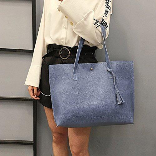 Hobo Bag Light Bags Messenger Khaki Purse JAGENIE Tote Handbag Blue Shoulder Shopping Women wqWxyFgxR0