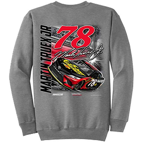 SMI Properties Martin Truex Jr 2018 5-Hour Energy Backstretch NASCAR Crewneck Sweatshirt (XLarge)