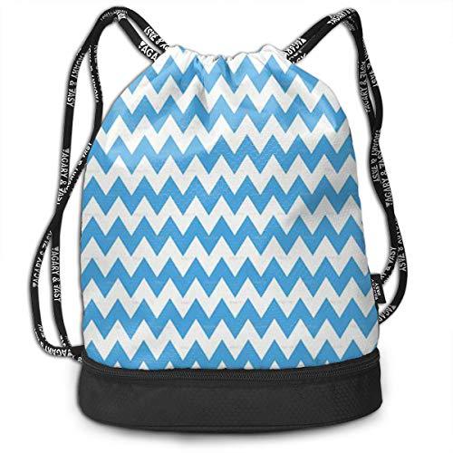 drawstring bag blue wave gym