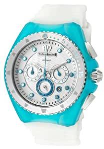 Technomarine 109014 - Reloj de mujer de cuarzo, correa de caucho color blanco/turquesa