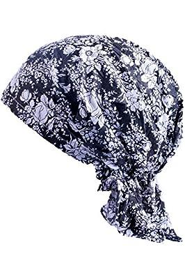 JIERKU Chemo Head Cover Pre Tied Turban Pirates Bandana Cycling Cap for Men Women