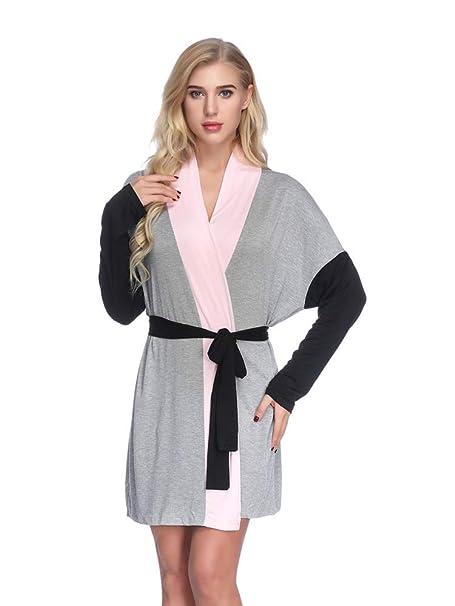Mujer Batas Kimono Algodón Camisón Encaje Pijama Túnica Ropa de Dormir: Amazon.es: Ropa y accesorios