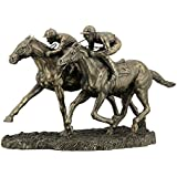 Veronese (ヴェロネーゼ) 2人の騎手 競馬 彫刻 ブロンズ風 フィギュア 置物
