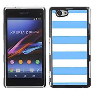 Graphic4You Color Stripes Pattern Design Hard Case Cover for Sony Xperia Z1 Compact (Mini) (Baby Blue)