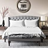 Mulberry Park Silks - King Silk Sheet Set (15' Pocket) - White - Deluxe 22 Momme 100% Pure Mulberry...