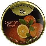 hard candies fruit flavored - Cavendish & Harvey Fruit Tin - Orange, 5.3-Ounce