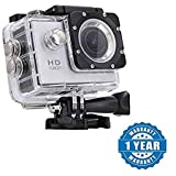Drumstone 1080P 12MP Sports DV Action Waterproof Camera Works With All Android or iPhone Devices (Color May Vary)