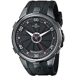 Perrelet Men's A1051/1 Turbine XL Analog Display Swiss Automatic Black Watch
