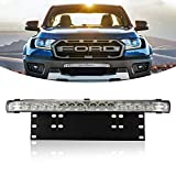 BUNKER INDUST Smart Combo, 20' inch LED Light Bar with License Plate Frame Mounting Bracket Kit for Truck Car ATV SUV 4X4 Jeep Truck Boat Driving...