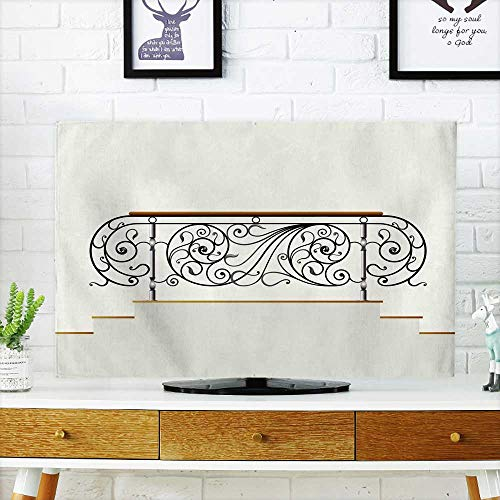 Analisahome Cover for Wall Mount tv Wrought Rail Iron Cover Mount tv W36 x H60 INCH/TV 65